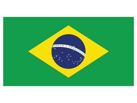 Flat Flag Asian Country of Brazil