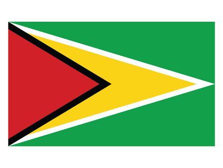 Flat Flag Asian Country of Guyana Ilustracja