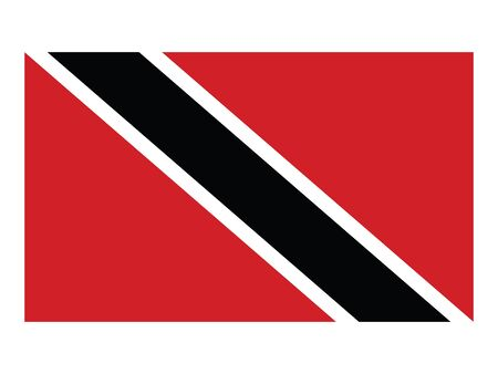 Flat Flag Asian Country of Trinidad and Tobago Ilustracja