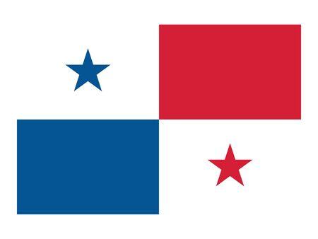 Waving Flat Flag Asian Country of Panama