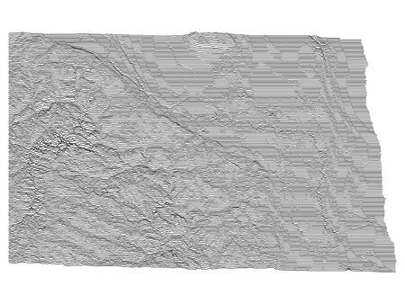 Topographic Relief Peaks and Valleys Map of US Federal State of North Dakota