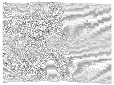 Topographic Relief Peaks and Valleys Map of US Federal State of Colorado