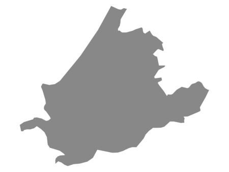 Map of the Netherlands Province of South Holland
