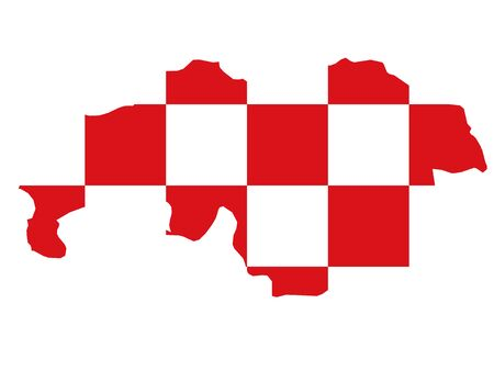 Map and Flag of the Netherlands Province of North Brabant