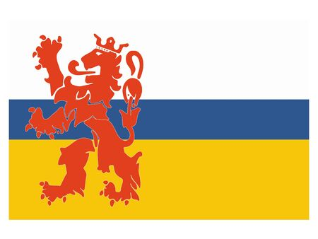 Flag of the Netherlands Province of Limburg Ilustrace