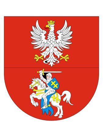 Map and Flag of the Polish Voivodeship of Podlaskie