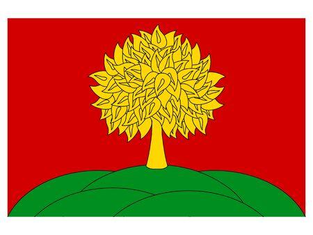 Flag of the Russian Federal Subject of Lipetsk Oblast Illustration
