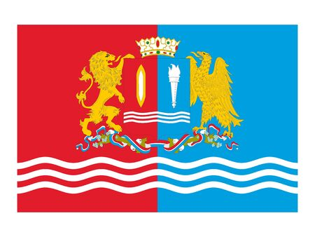 Flag of the Russian Federal Subject of Ivanovo Oblast Illustration