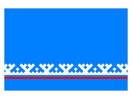 Flag of the Russian Federal Subject of Yamalo-Nenets Autonomous Okrug Illustration