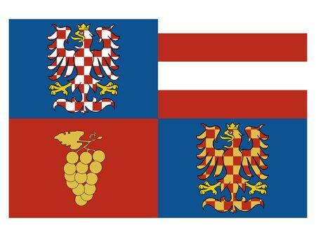 Flag of the Czech Region of South Moravia Illusztráció