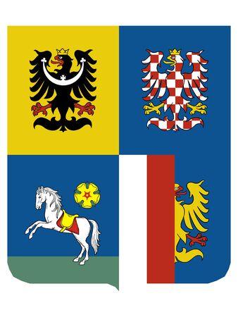 Coat of Arms of the Czech Region of Moravia-Silesia Illusztráció