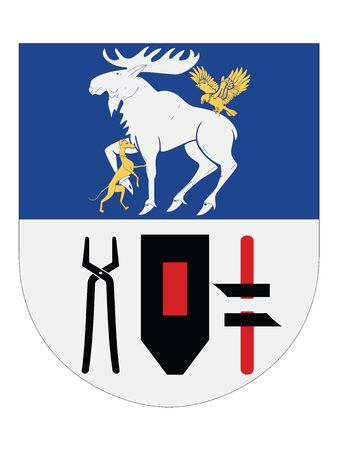 Coat of Arms of the Swedish County of Jamtland 向量圖像
