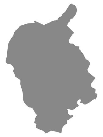 Flat Gray Map of the Slovakian Region (Kraj) of Bratislava 向量圖像