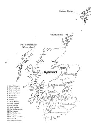 White Labeled Flat Map of Council Areas of Scotland
