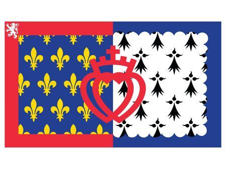 Flag of the French Region of Pays de la Loire Illustration