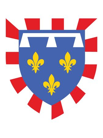Coat of Arms of the French Region of Centre-Val de Loire Banque d'images - 143922950