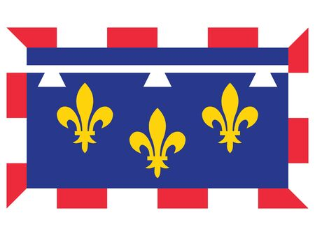 Flag of the French Region of Centre-Val de Loire Banque d'images - 143922951