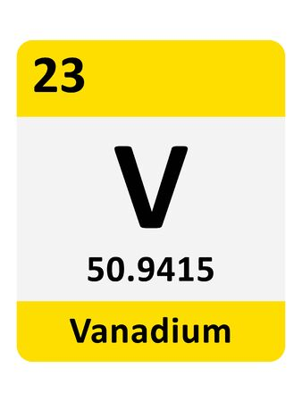 Name, Symbol, Atomic Mass and Atomic Number of the Period Table Element of Vanadium