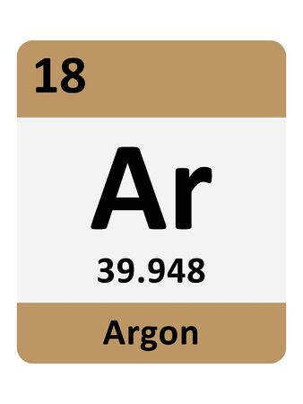 Name, Symbol, Atomic Mass and Atomic Number of the Period Table Element of Argon