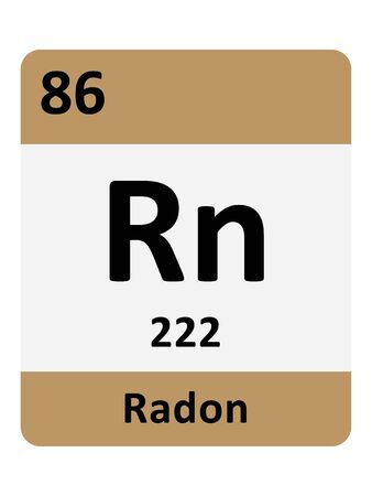 Name, Symbol, Atomic Mass and Atomic Number of the Period Table Element of Radon