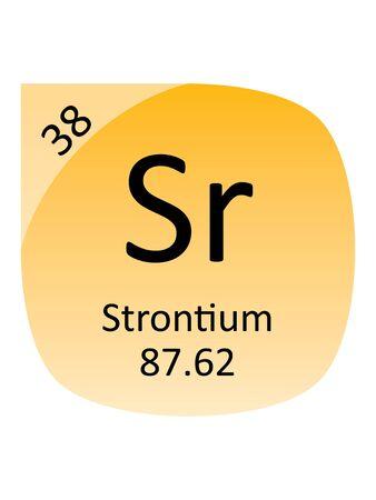 Round Periodic Table Element Symbol of Strontium