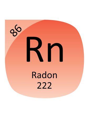 Round Periodic Table Element Symbol of Radon