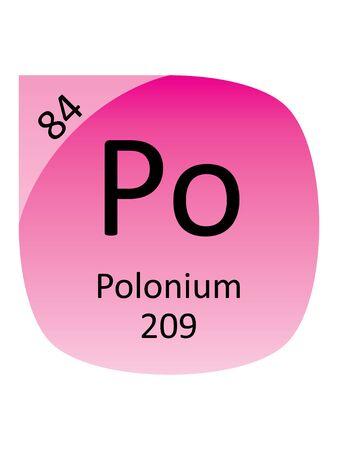 Round Periodic Table Element Symbol of Polonium