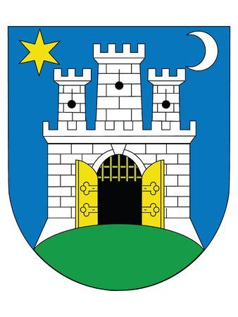 Coat of Arms of the Croatian City of Zagreb 矢量图像