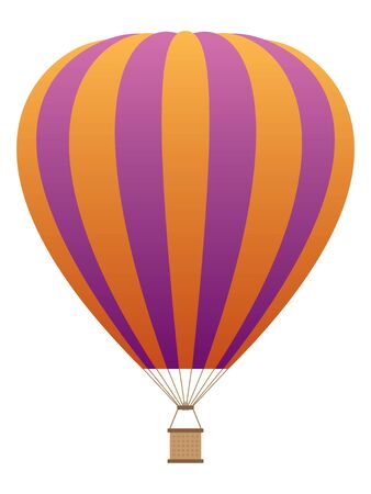 Detailed Hand Drawn 3D Illustration of a Colorful Hot Air Balloon