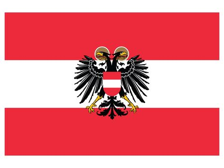 Vector Illustration of the Flag of Federal State of Austria (1938) Ilustrace