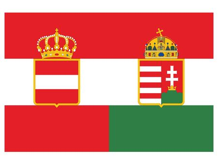 Vector Illustration of the Flag of Austria-Hungary (1914) Ilustrace