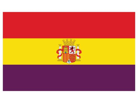 Vector Illustration of the Flag of the Second Spanish Republic (year 1931-1939) Ilustração