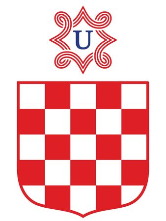 Vector Illustration of the Coat of Arms of Independent State of Croatia - Ustasa (year 1941-1945)