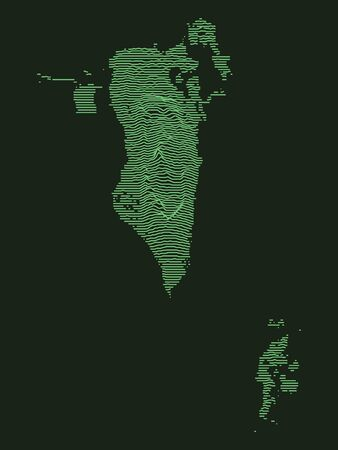 Tactical Military Emerald 3D Topography Map of Asian Country of Bahrain