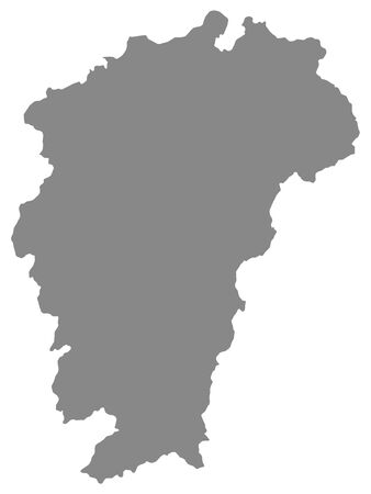 Grey Geographic Flat Map of Chinese Province of Jiangxi Illustration