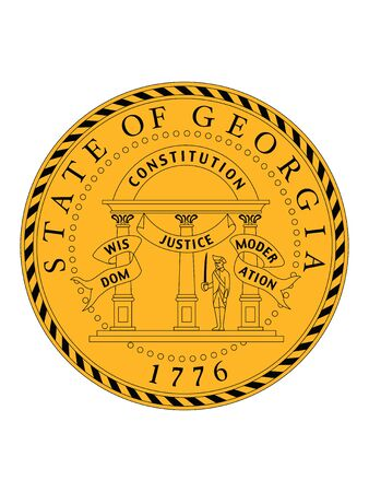 Great Seal of US Federal State of Georgia (The Peach State)