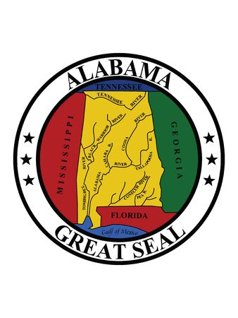 Great Seal of US Federal State of Alabama (The Yellowhammer State)