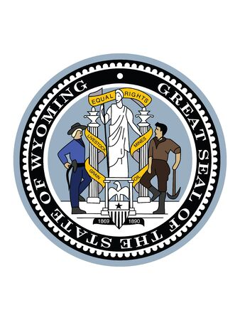 Great Seal of US Federal State of Wyoming (The Equality State)