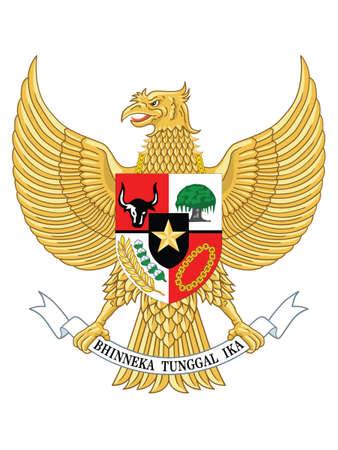 Garuda Pancasila - Coat of Arms of Asian County of Republic of Indonesia