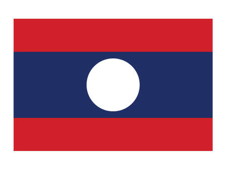 Flat Vector Illustration of the National Flag of People's Democratic Republic of Laos  イラスト・ベクター素材