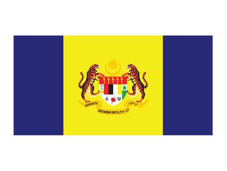 Vector Illustration of the Malaysian Federal Territory of Putrajaya Flag