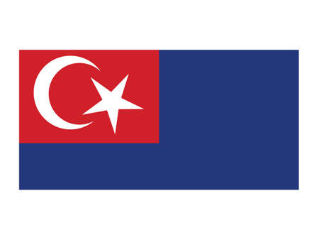 Vector Illustration of the Malaysian State of Johor Flag Illustration