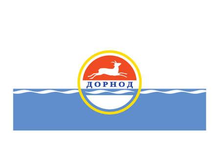 Vector Illustration of the Flag of Mongolian Province of Dornod Illustration