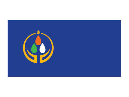 Vector Illustration of the Flag of Mongolian Province of Orkhon Stock Illustratie