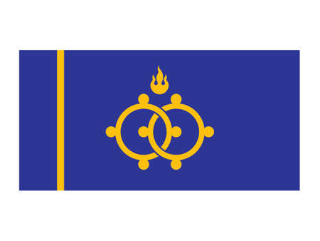 Vector Illustration of the Flag of Mongolian Province of Darkhan-Uul