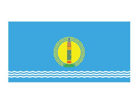 Vector Illustration of the Flag of Mongolian Province of Khövsgöl Standard-Bild - 153023972