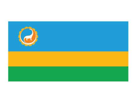 Vector Illustration of the Flag of Mongolian Province of Dornogovi