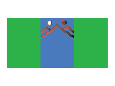 Vector Illustration of the Flag of Mongolian Province of Govisümber