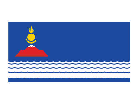 Vector Illustration of the Flag of Mongolian Province of Uvs