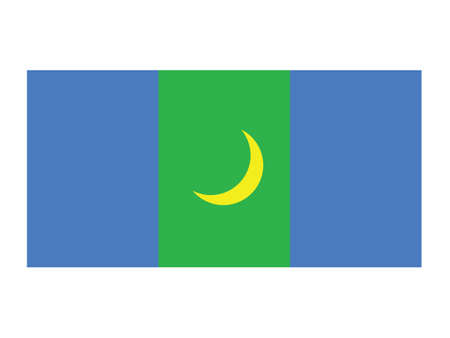 Vector Illustration of the Flag of Mongolian Province of Bayan-Olgiy Stock Illustratie